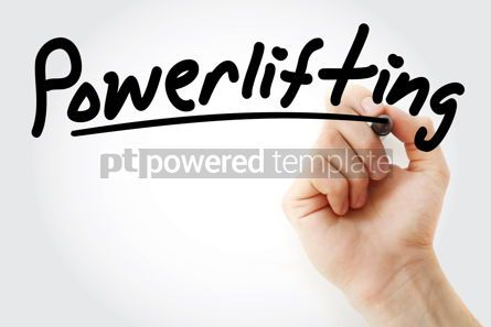 Business: Hand writing Powerlifting with marker #08602