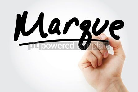 Business: Hand writing Marque with marker #08608