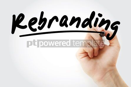 Business: Hand writing Rebranding with marker #08610