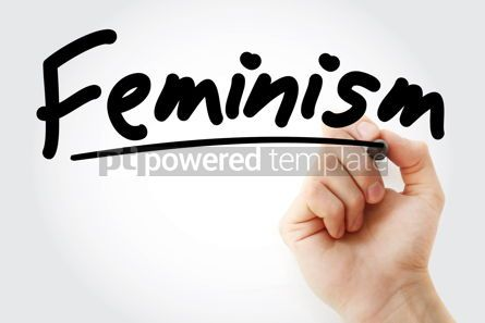Business: Hand writing Feminism with marker #08611
