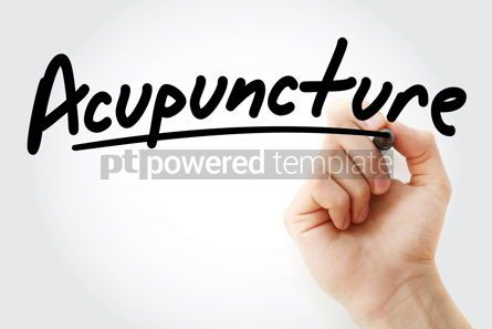 Business: Hand writing Acupuncture with marker #08612