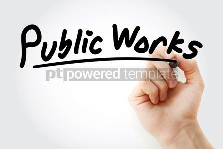 Business: Hand writing Public works with marker #08613