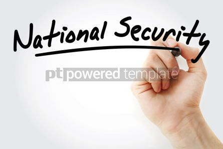 Business: Hand writing National security with marker #08615