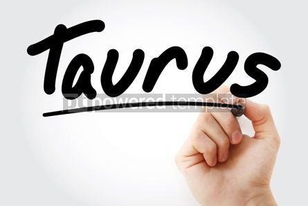 Business: Hand writing Taurus with marker #08618