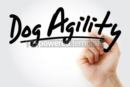 Business: Hand writing Dog agility with marker #08624
