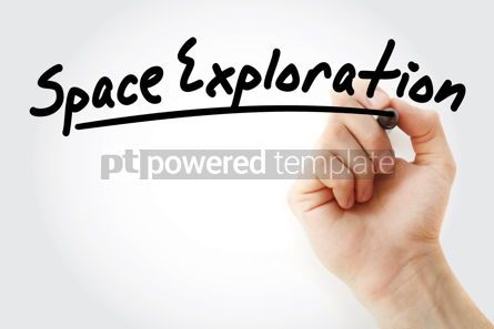 Business: Hand writing Space exploration with marker #08630