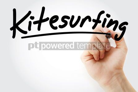 Business: Hand writing Kite surfing with marker #08632