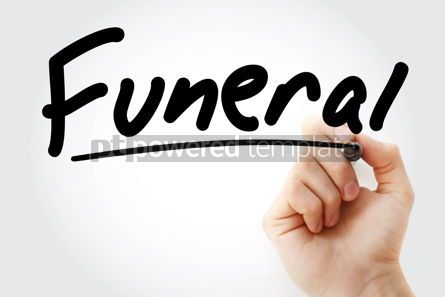 Business: Hand writing Funeral with marker #08636