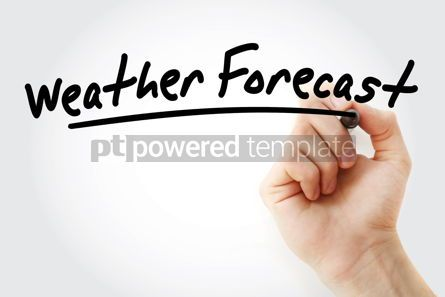 Business: Hand writing Weather forecast with marker #08638