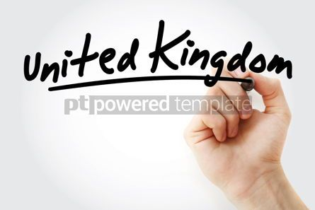 Business: Hand writing United Kingdom with marker #08643