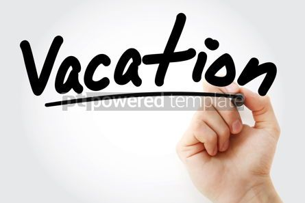 Business: Hand writing Vacation with marker #08644