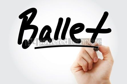 Business: Hand writing Ballet with marker #08647