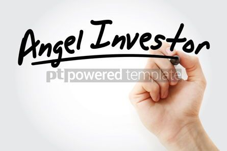 Business: Hand writing Angel investor with marker #08651