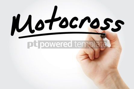 Business: Hand writing Motocross with marker #08654