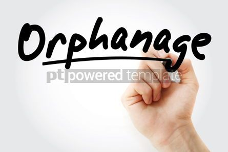 Business: Hand writing Orphanage with marker #08655