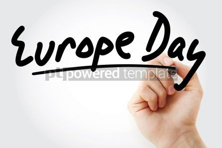 Business: Hand writing Europe day text #08658
