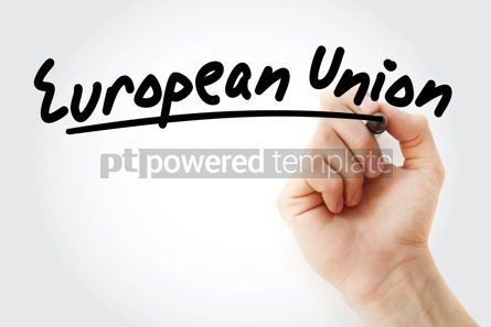 Business: Hand writing European Union text #08660