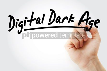 Business: Hand writing Digital dark age with marker #08668