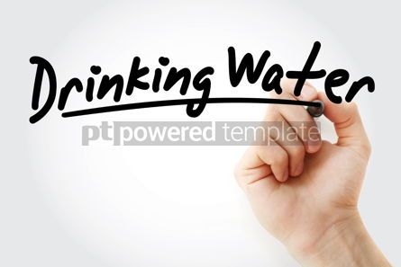 Business: Hand writing Drinking water with marker #08671