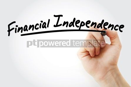 Business: Hand writing Financial independence with marker #08673
