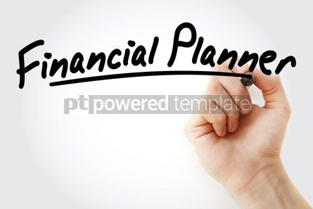Business: Hand writing Financial planner with marker #08674
