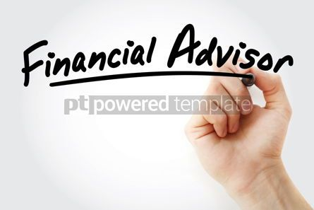 Business: Hand writing Financial advisor with marker #08675