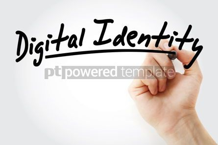 Business: Hand writing Digital identity with marker #08677