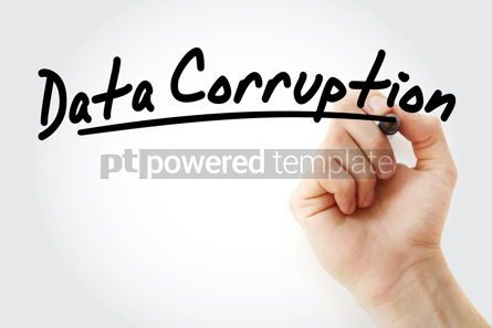 Business: Hand writing Data corruption with marker #08678