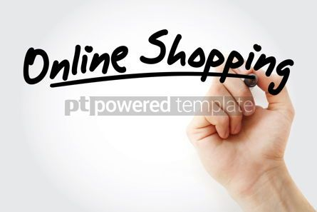 Business: Hand writing Online shopping with marker #08679