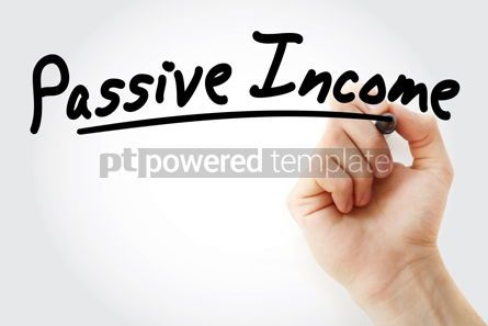Business: Hand writing Passive income with marker #08680