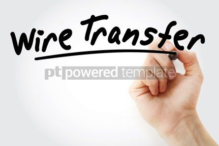 Business: Hand writing Wire transfer with marker #08681