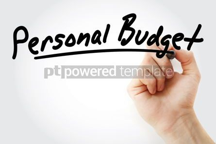 Business: Hand writing Personal budget with marker #08682