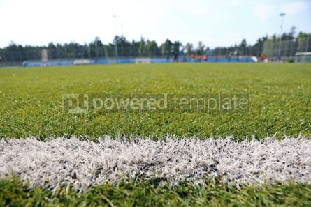Sports : Close-up synthetic grass for football (soccer) sport field #08689