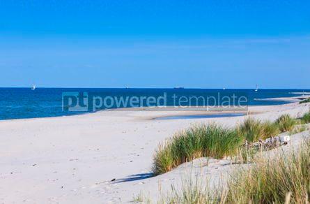 Nature: Sandy beach on Hel Peninsula Baltic sea Poland #08690