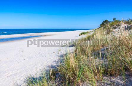 Nature: Sandy beach on Hel Peninsula Baltic sea Poland #08691