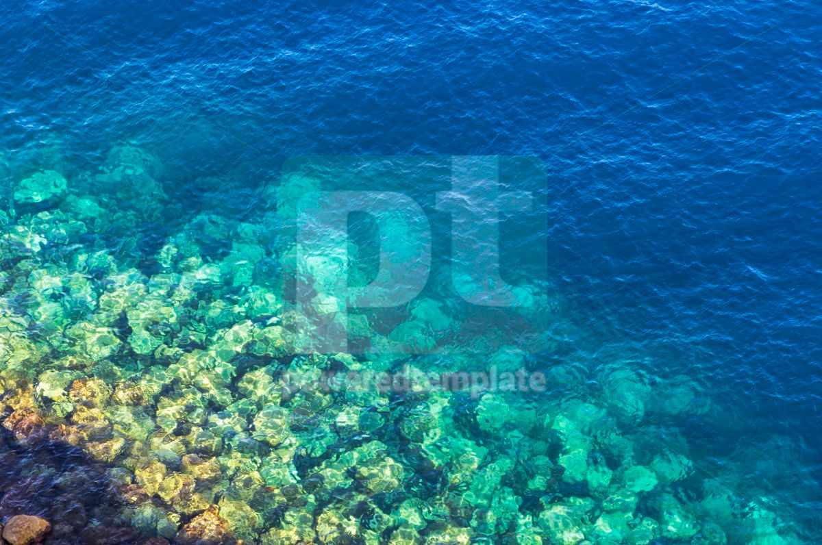 Background made of clear azure sea water, 08702, Nature — PoweredTemplate.com