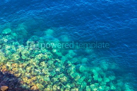Nature: Background made of clear azure sea water #08702