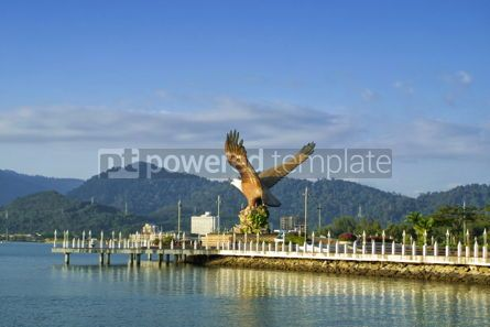 Architecture : Eagle sculpture in Kuah town Langkawi Malaysia #08704