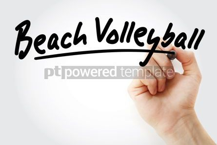 Sports : Hand writing Beach volleyball with marker #08731