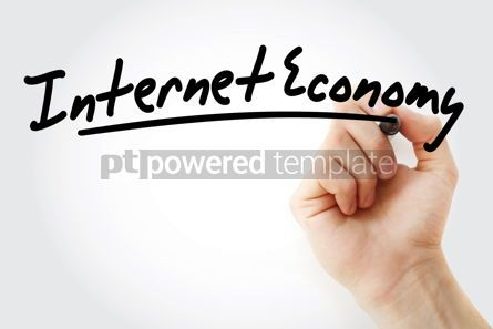 Technology: Hand writing Internet economy with marker #08735