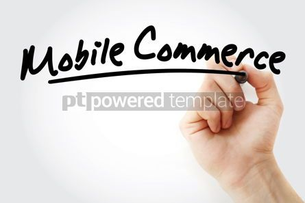 Technology: Hand writing Mobile commerce text #08736