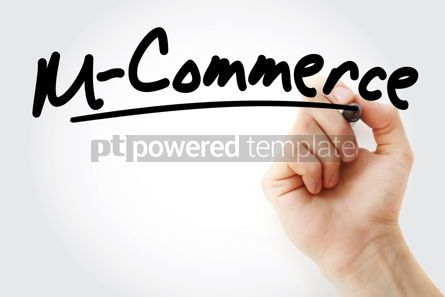 Business: Hand writing M-commerce text #08737