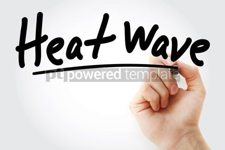 Industrial: Hand writing Heat wave with marker #08738