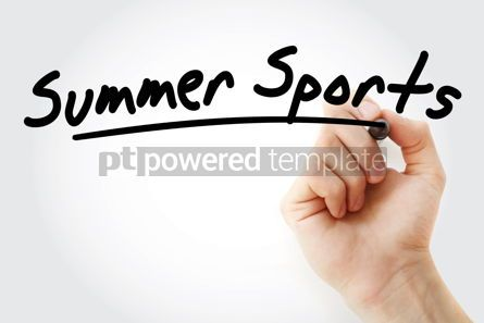 Sports : Hand writing Summer sports with marker #08739