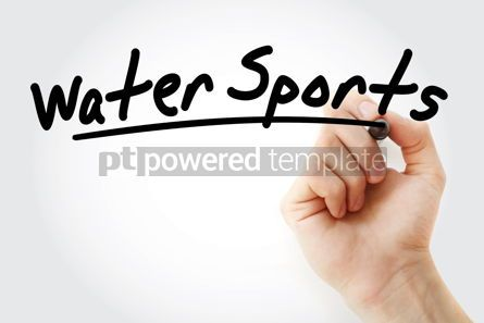Sports : Hand writing Water sports with marker #08740