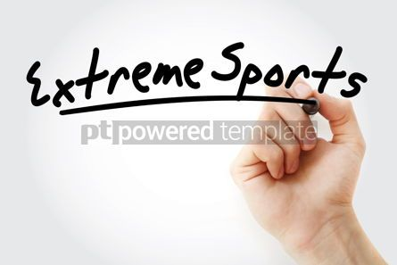 Sports : Hand writing Extreme sports with marker #08741