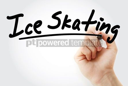 Sports : Hand writing Ice skating with marker #08755