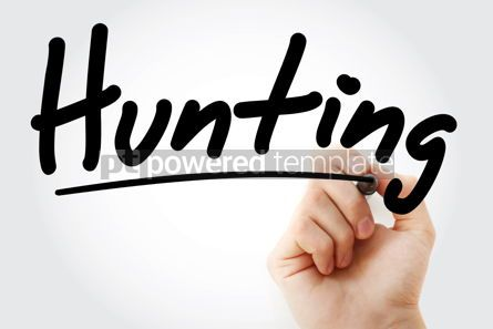 Sports: Hand writing Hunting with marker #08758