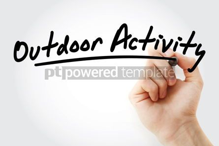 Sports : Hand writing Outdoor activity with marker #08760