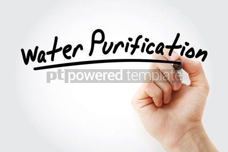 Health: Hand writing Water purification with marker #08761